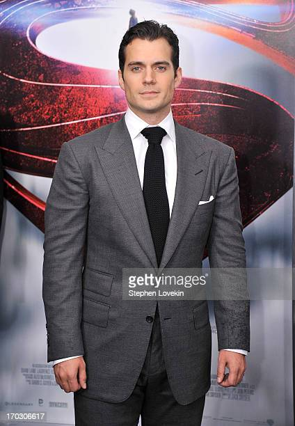 """Actor Henry Cavill attends the """"Man Of Steel"""" world premiere at Alice Tully Hall at Lincoln Center on June 10, 2013 in New York City."""