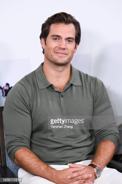 Actor Henry Cavill attends the 'Mission Impossible Fallout' China Press Junket at The Peninsula Hotel on August 29 2018 in Beijing China