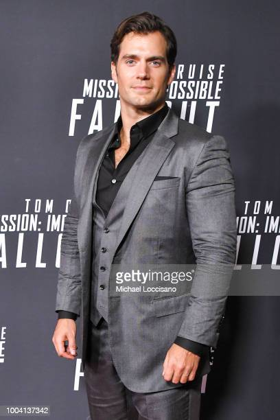 Actor Henry Cavill attends the 'Mission Impossible Fallout' US Premiere at Lockheed Martin IMAX Theater at the Smithsonian National Air Space Museum...