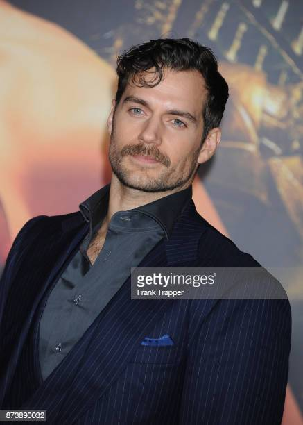 Actor Henry Cavill attends the premiere of Warner Bros Pictures' 'Justice League' held at the Dolby Theatre on November 13 2017 in Hollywood...