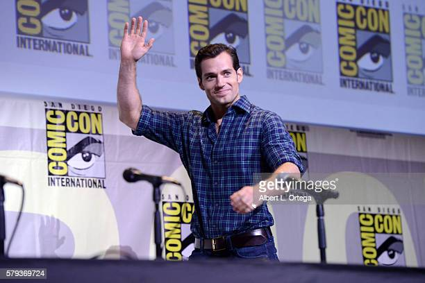 Actor Henry Cavill attends the Warner Bros Presentation during ComicCon International 2016 at San Diego Convention Center on July 23 2016 in San...