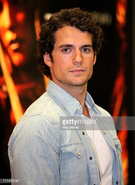 Actor Henry Cavill poses during 2011 WonderCon at Moscone Convention Center on April 1 2011 in San Francisco California