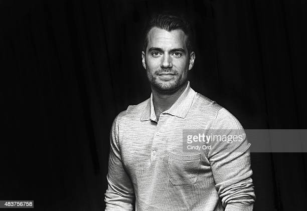 Actor Henry Cavill poses for a photo during SiriusXM's Entertainment Weekly Radio 'The Man from UNCLE' Town Hall with Guy Ritchie Henry Cavill and...