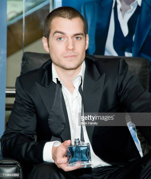Actor Henry Cavill star of TV drama 'The Tudors' launches Dunhill London a new fragrance for men on January 16 2008 at Selfridges Oxford Street in...