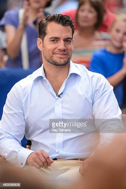 Actor Henry Cavill tapes an interview at 'Good Morning America' at the ABC Times Square Studios on August 10 2015 in New York City