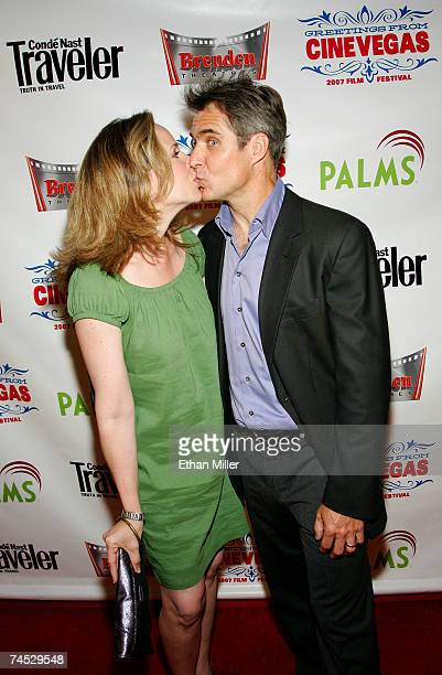 Actor Henry Czerny and his wife Claudine Czerny attend the world premiere of The Fifth Patient held at the Brenden Theatres inside the Palms Casino...