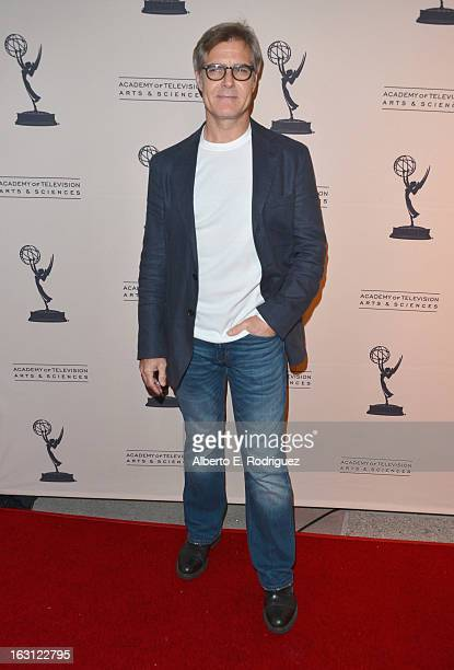 Actor Henry Czerny arrives to the Academy of Television Arts and Sciences' An Evening with Revenge at Leonard H Goldenson Theatre on March 4 2013 in...