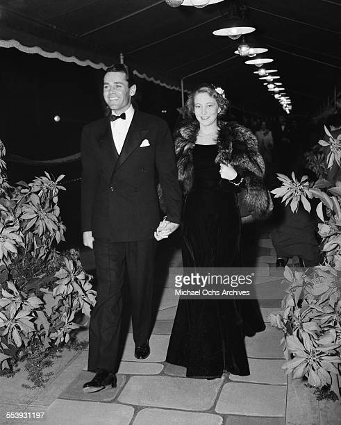 Actor Henry Fonda and his wife Frances Ford Seymour attend an event in Los Angeles California