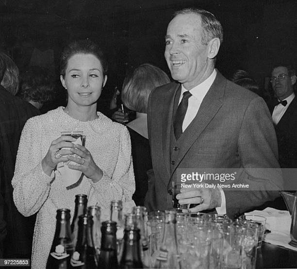 Actor Henry Fonda and wife Shirlee