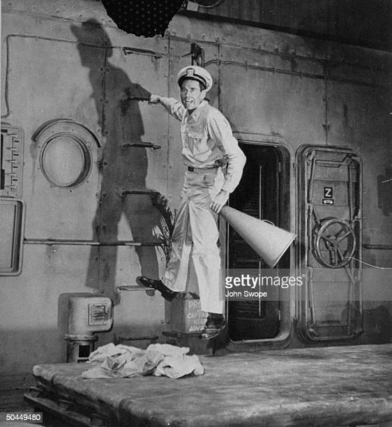 Actor Henry Fonda in a scene from the play Mister Roberts