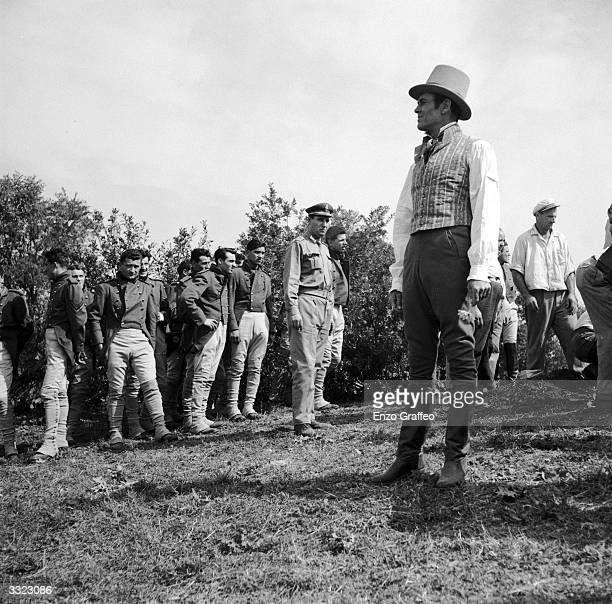 Actor Henry Fonda on location in Rome where Hollywood military epic 'War And Peace' is being filmed namely a restaging of The Battle of Borodino A...