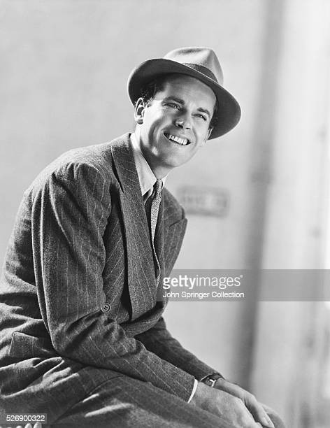 Actor Henry Fonda Wearing Fedora