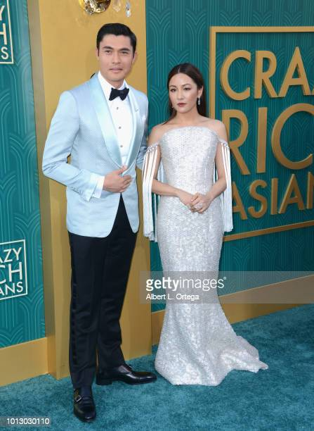 Actor Henry Golding and actress Constance Wu arrive for Warner Bros Pictures' Crazy Rich Asians Premiere held at TCL Chinese Theatre IMAX on August 7...