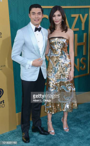 Actor Henry Golding and actress Gemma Chan arrive for Warner Bros Pictures' Crazy Rich Asians Premiere held at TCL Chinese Theatre IMAX on August 7...