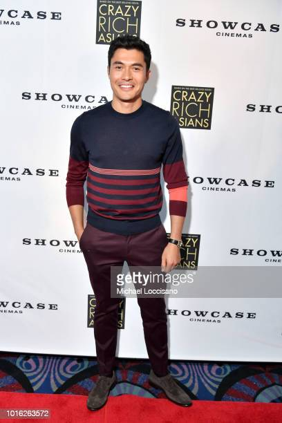 Actor Henry Golding poses during Showcase Cinemas' 'Crazy Rich Asians' screening at College Point Multiplex Cinemas on August 13 2018 in Whitestone...