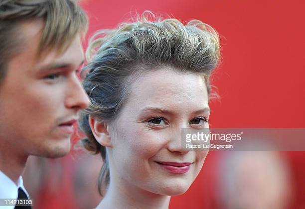 Actor Henry Hopper and actress Mia Wasikowska attend The Tree Of Life premiere during the 64th Annual Cannes Film Festival at Palais des Festivals on...