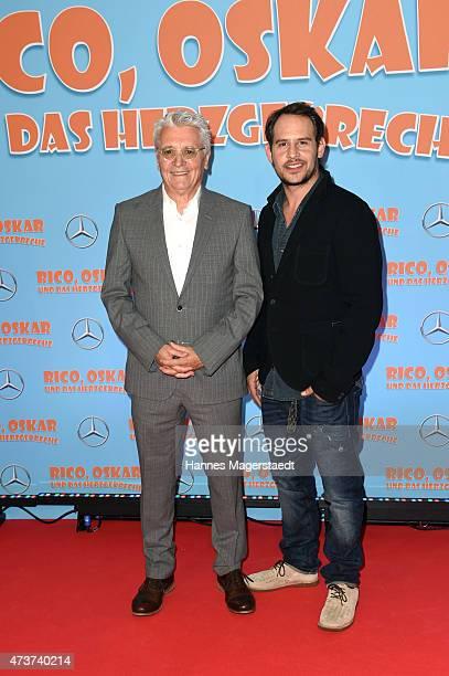 Actor Henry Huebchen and Moritz Bleibtreu attend the premiere for the film 'Rico Oskar und das Herzgebreche' at Mathaeser Filmpalast on May 17 2015...