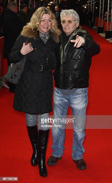 Actor Henry Huebchen and partner Carmen Kopplin attend the 'Boxhagener Platz' Premiere during day six of the 60th Berlin International Film Festival...