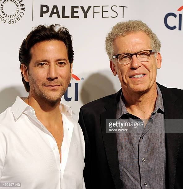 """Actor Henry Ian Cusick and executive producer Carlton Cuse arrive at The Paley Center Media's PaleyFest 2014 Honoring """"Lost"""" 10th Anniversary Reunion..."""