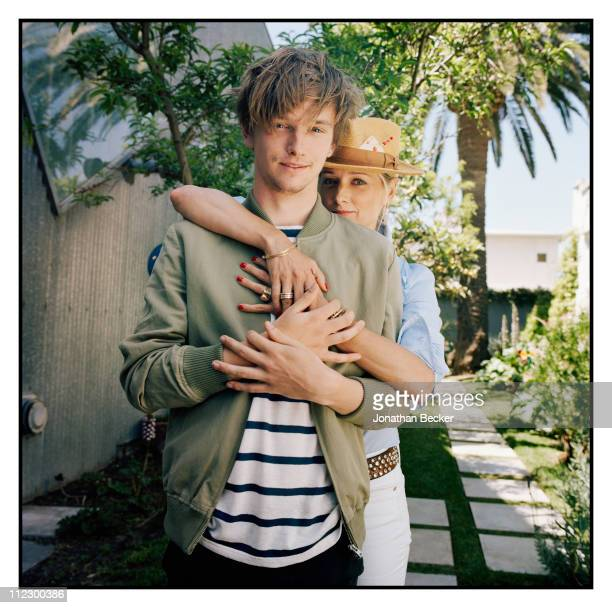 Actor Henry Lee Hopper and his mother Katherine Lanasa are photographed for Vanity Fair Magazine on April 23 2010 in Venice California