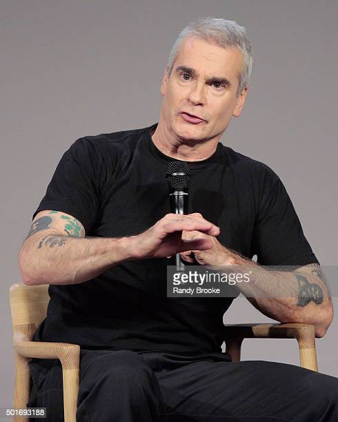 Actor Henry Rollins during the Apple Store Soho Presents Meet the Actor Henry Rollins 'He Never Died' at Apple Store Soho on December 16 2015 in New...
