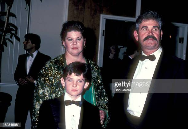 Actor Henry Thomas and parents Carolyn L Davis and Henry Thomas Sr attend the 40th Annual Golden Globe Awards on January 29 1983 at Beverly Hilton...
