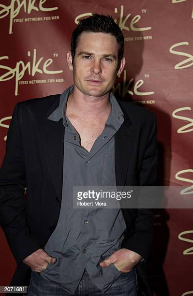 Actor Henry Thomas attends the official launch party for Spike TV at the Playboy Mansion on June 10 2003 in Holmby Hills California Formerly TNN...