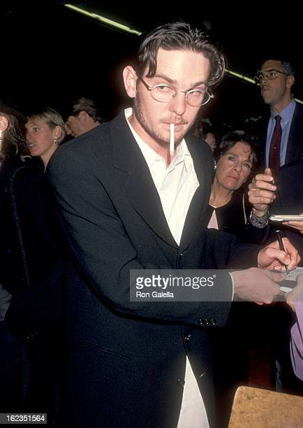 Actor Henry Thomas attends The Paper Century City Premiere on March 16 1994 at Cineplex Odeon Century Plaza Cinemas in Century City California
