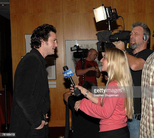 Actor Henry Thomas is interviewed at the Academy of Motion Picture Arts and Sciences screening of ET The ExtraTerrestrial at the Samuel Goldwyn...