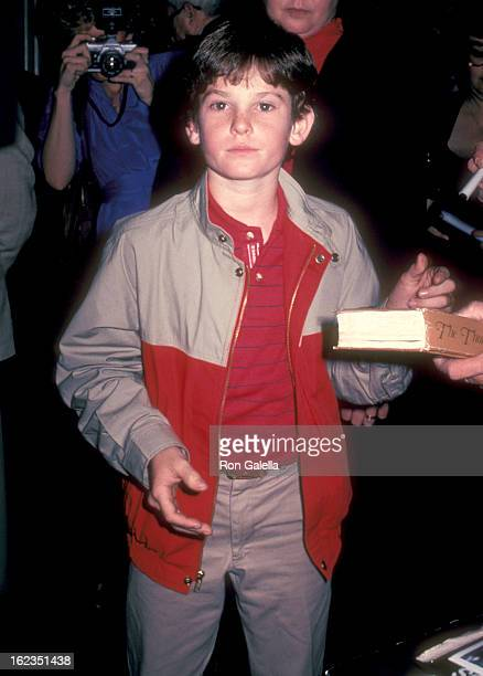 Actor Henry Thomas on March 1 1983 leaving the Beverly Hilton Hotel in Beverly Hills California