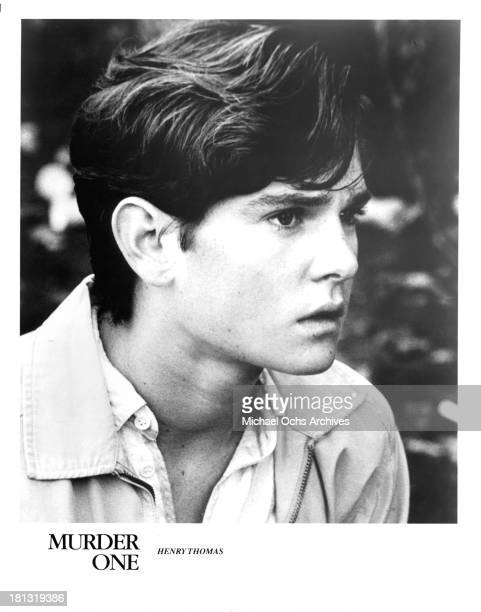 Actor Henry Thomas on set of the movie Murder One in 1988