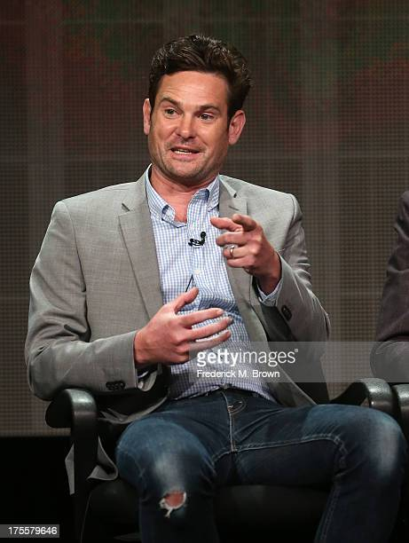 Actor Henry Thomas speaks onstage during the Betrayal panel discussion at the Disney/ABC Television Group portion of the Television Critics...