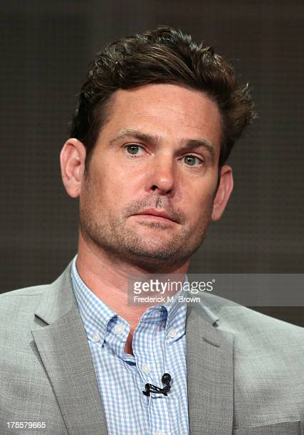 Actor Henry Thomas speaks onstage during the 'Betrayal' panel discussion at the Disney/ABC Television Group portion of the Television Critics...