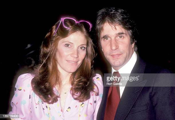 Actor Henry Winker and wife Stacey Weitzman attend Hollywood Walk of Fame Star Ceremony for Henry Winkler on May 24 1981 at 6233 Hollywood Boulevard...
