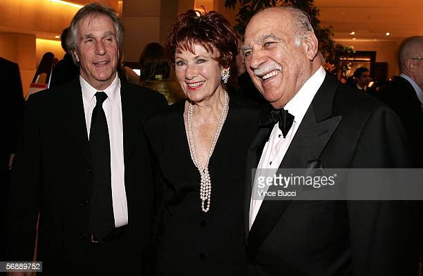 Actor Henry Winkler actress Marion Ross and husband Paul Michael attend the 56th Annual ACE Eddie Awards cocktail reception held at the Beverly...