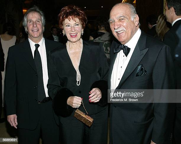 Actor Henry Winkler actress Marion Ross and Paul Michael arrive at the 56th Annual ACE Eddie Awards held at the Beverly Hilton Hotel on February 19...