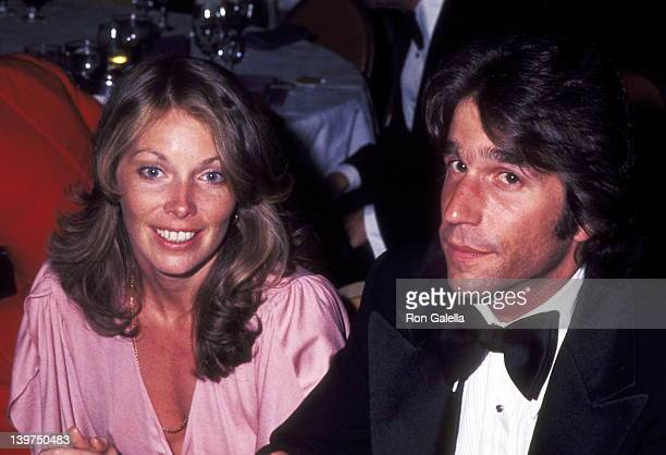 Actor Henry Winkler and Actress Jaime Lyn Bauer attend the Family Plot Los Angeles Premiere Party on March 21 1976 at Century Plaza Hotel in Los...