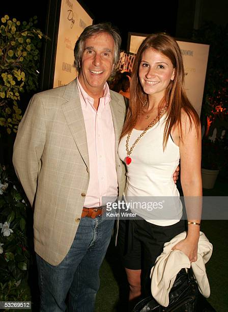 Actor Henry Winkler and daughter Zoe arrive at the afterparty for the premiere of Warner Bros Pictures Must Love Dogs at the Cinerama Dome Theater on...