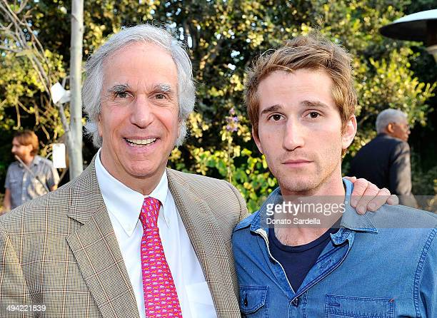Actor Henry Winkler and son Max Winkler attend the first annual Poetic Justice Fundraiser for the Coalition For Engaged Education at the Herb Alpert...