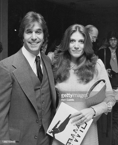 Actor Henry Winkler and wife Stacey Furstman attending the opening of Twyla Tharp Dance on March 17 1981 at the Ahmanson Theater in Los Angeles...