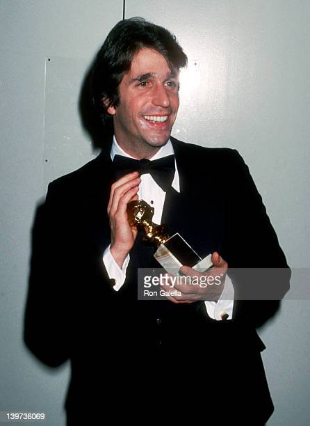 Actor Henry Winkler attends the 35th Annual Golden Globe Awards on January 28 1978 at Beverly Hilton Hotel in Beverly Hills California