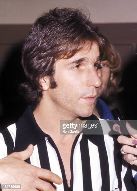 Actor Henry Winkler attends the Fifth Annual Celebrity Basketball Game - Celebrity All-Stars vs. Beverly Hills Police- Benefit the American Cancer...