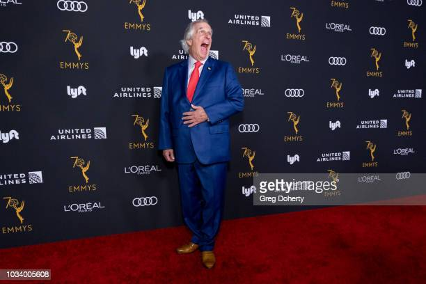 Actor Henry Winkler attends the Television Academy Honors Emmy Nominated Performers Reception at Wallis Annenberg Center for the Performing Arts on...