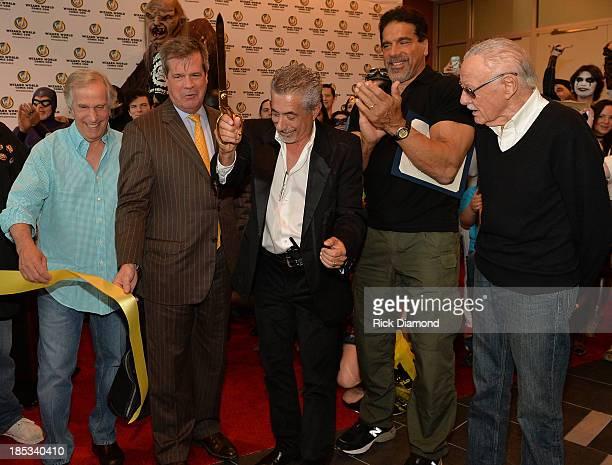 Actor Henry Winkler Nashville Mayor Karl Dean John Macaluso CEO of Wizard World Actor Lou Ferrigno and Comic book writer Stan Lee attend Nashville...