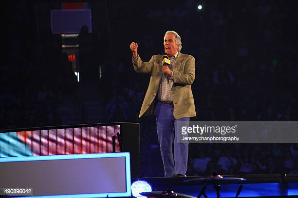 Actor Henry Winkler speaks during WE Day Toronto at the Air Canada Centre on October 1 2015 in Toronto Canada