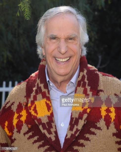Actor Henry Winkler visits Hallmark's Home Family at Universal Studios Hollywood on February 11 2019 in Universal City California