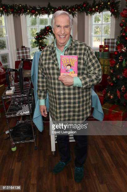 Actor Henry Winkler visits Hallmark's Home Family at Universal Studios Hollywood on February 1 2018 in Universal City California