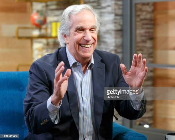 Actor Henry Winkler visits 'The IMDb Show' on May 31 2018 in Studio City California This episode of 'The IMDb Show' airs on June 7 2018