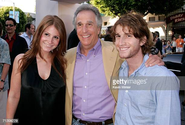 Actor Henry Winkler with son Max Winkler and daughter Zoe Emily Winkler arrive at Sony Pictures premiere of Click held at the Mann Village Theater on...