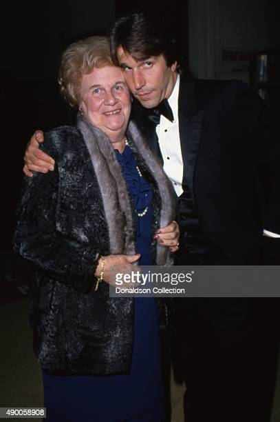 Actor Henry Winkley from the TV show Happy Days attends an event with a woman in circa 1980 in Los Angeles California